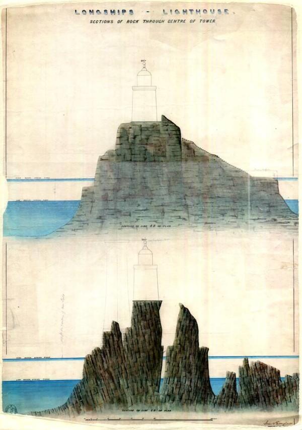 Longships Rocks through centre of tower.jpg
